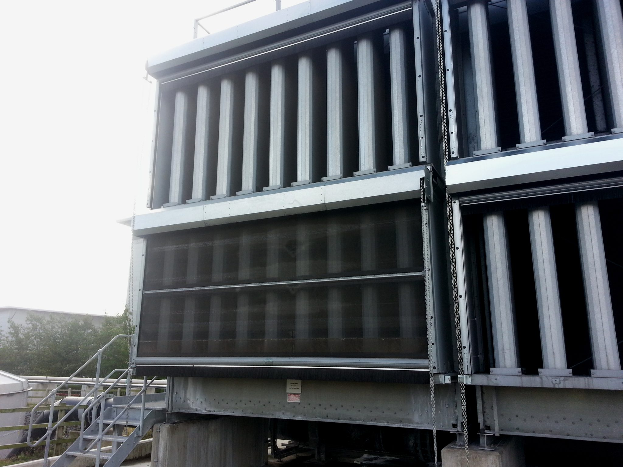 evaporative cooling tower exterior
