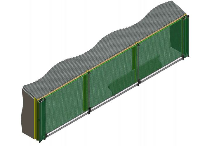 Galebreaker rolling filter graphics for cooling tower solutions